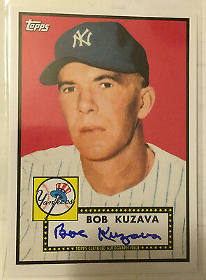 Bob Kuzava 2011 Topps Lineage 1952 '52 on-card Autograph Auto - NEW YORK YANKEES