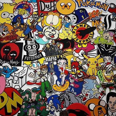 """CARTOON GREATS"" PATCH SERIES Awesome Iron-On Patches, Low Price, UK Seller..."