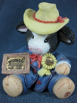 Marys Moo Moos Prime Choice 125660 Judging Fair Cow Figurine Mary Rhyner 1994 BX