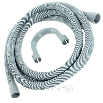 Spares2go Extra Long Water Pipe Outlet Hose for Essentials Dishwasher 4.1m 19mm /& 22mm Connection
