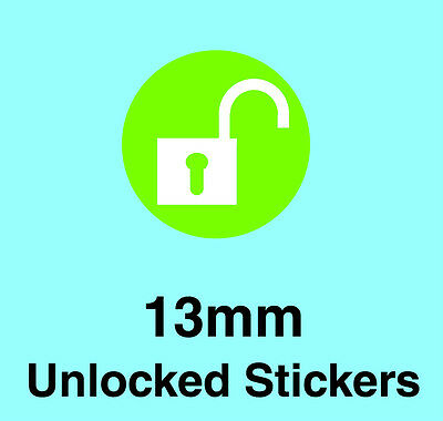 Network Unlocked Mobile Phone Stickers / Labels - With Removable Adhesive