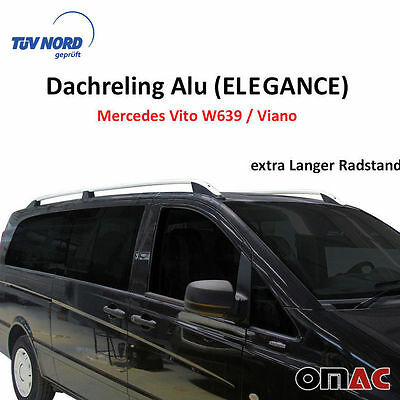 Dachreling Alu Mercedes Vito / Viano W639 / W447 2004   Extra LANG Radstand