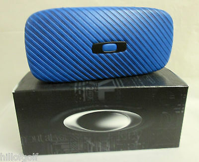 New Authentic Oakley Square O Hard Case Pacific Blue...NEVER DISPLAYED...IN BOX