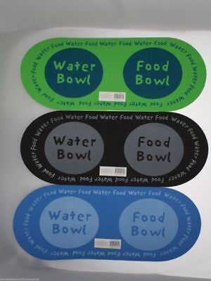 12 x Pet Dog food and Drink Mat EVA 3 Assorted Colours Green Black Blue