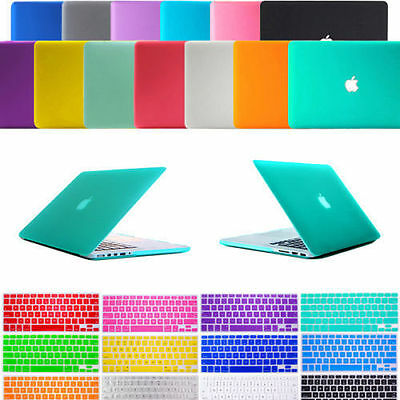 """Keyboard Cover Film + Frosted Matte Hard Cover Case For Apple Macbook AIR 11""""13"""""""