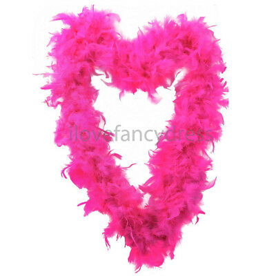 Hot Pink 65G Feather Boa Burlesque Fancy Dress Costume Accessory Hen Night