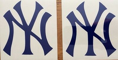 "New York Yankees 2 Pack Of Decals 3.5""x4.0"" Vinyl**FREE SHIPPING**"