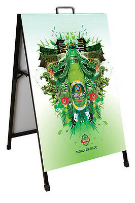 A1 Size Double Sided Metal A-Board/A-Frame Sign Display 900mm(H) x 600mm(W)