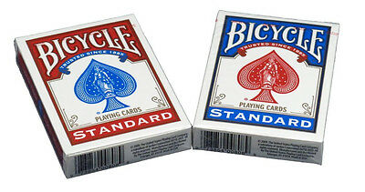 New Bicycle Rider Back Poker Playing Cards - 2 Decks Red & Blue Free Shipping