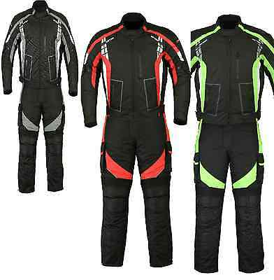 Motorcycle Motorbike Textile Sporty Jacket Trouser Suit Waterproof CE Armoured