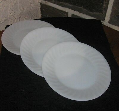 Fire king dishes Swirl plain White no gold 9 inch buy what you need