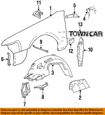 lincoln ford oem 98 99 town car wheels center cap f8vz1130ab telecaster wiring- diagram car fender diagram #14