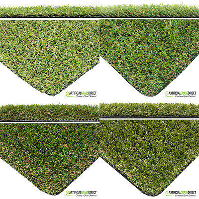 Artificial Grass Garden Realistic Natural Looking Turf Lawn Astro Green 2m or 4m