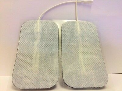 4 Replacement Pads for Massagers / Tens Units electrode 2 x 3.5Inch White Cloth