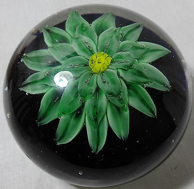 Antique Art Glass Paperweight LARGE Floral French?