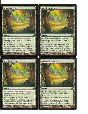 mtg Magic 4x Vivid Grove ( Arboleda vivida )    LORWYN SPANISH  NM-
