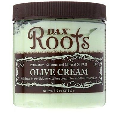 """Dax Roots Olive Cream """"leave In & Styling Cream For Moderately Dry Hair"""" 213G"""