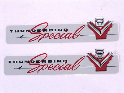 55 56 Ford 312 Engine Valve Cover Decal Set 272 292 New