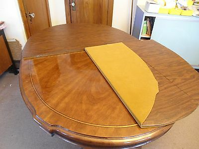Large Banded  Dining Room Table with 2 Pedestals + 3 ext leave and cover
