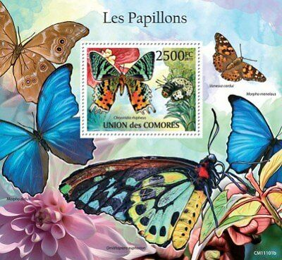 Comoros - Butterflies on Stamps -  Stamp S/S  - 3E-355
