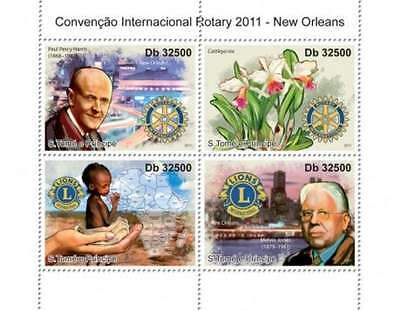 St Thomas - 2011 Rotary Club Convention - 4 Stamp  Sheet ST11202a