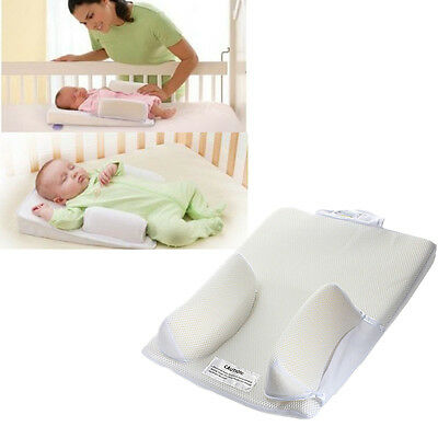 1x Newborn Baby Infant Sleep Positioner Prevent Flat Head Shape Anti Roll Pillow