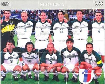 Slovenia Soccer Team -  Sheet of 9 Stamps - 20A-025