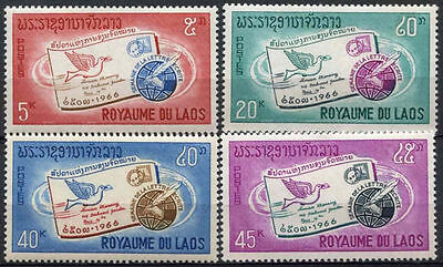 Laos 1966 SG#195-8 International Correspondence Week MNH Set #A82665