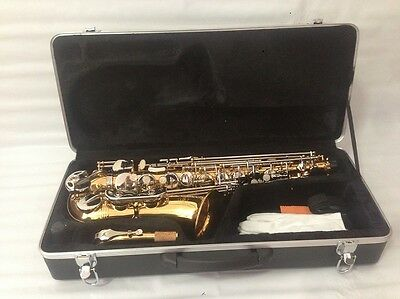 Gold Alto Saxophone With Silver Plated Key Sax - New