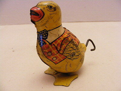 Antique Tin Toy Wind Up J. Chein and Co. Wind-Up Walking Bird Sparrow