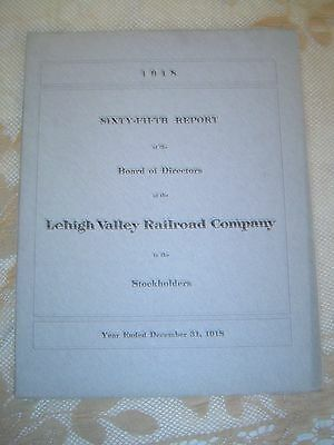 LEHIGH VALLEY RAILROAD COMPANY - 1918 - 65th Annual Report