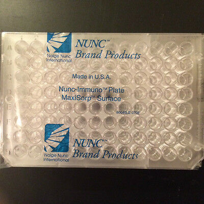 Nunc 439454, Unit of 5 plates, 96 Well, Flat-Bottom Immuno Plate, 0.4 mL Well,