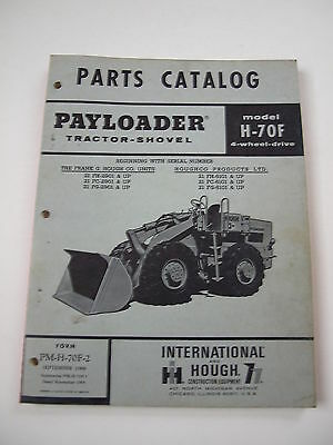 IH International Hough 70F Front-End Wheel PAY Loader Tractor Parts Catalog List