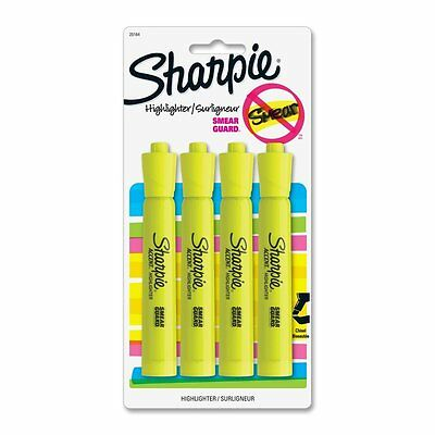 Sharpie Accent Tank-Style Highlighters, Fluorescent Yellow, 4 Pack, Ink Pen Kid