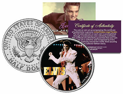"Elvis Presley ""Last Concert""  Kennedy Half Dollar US Coin *Officially Licensed*"