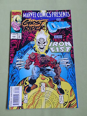 Ghost Rider & Cage Also Iron Fist -Marvel Comic-Usa  -  #132  - Vg