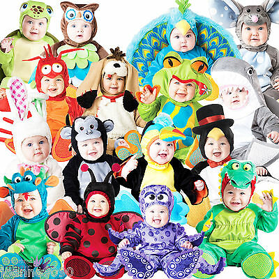 New Deluxe Halloween Boys Girls Baby Toddler Babygrow Animal Fancy Dress Costume