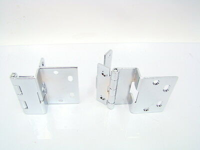 "(2) Swing Clear Away Knuckle Door Hinge Set 2-3/4"" Chrome Heavy Duty (E29-1032)"