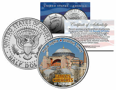 HAGIA SOPHIA * Famous Church * Colorized JFK Half Dollar US Coin Istanbul Turkey