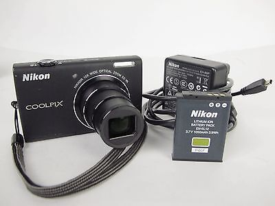 NIKON COOLPIX S6200 16.0 MP DIGITAL CAMERA W/ 10X NIKKOR ZOOM LENS NIKON COOLPIX
