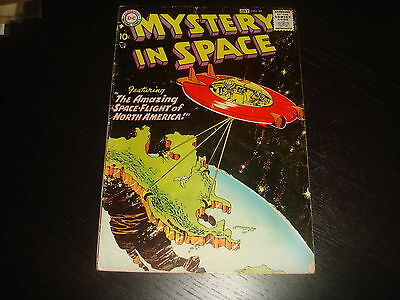 MYSTERY IN SPACE #44  Silver Age Sci-Fi  DC Comics 1958 G/VG