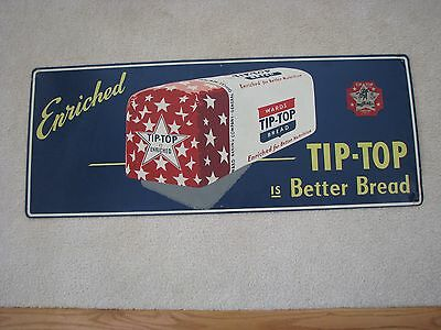Stunning Graphic Ward's TIP TOP Bread Old Tin Advertising Sign