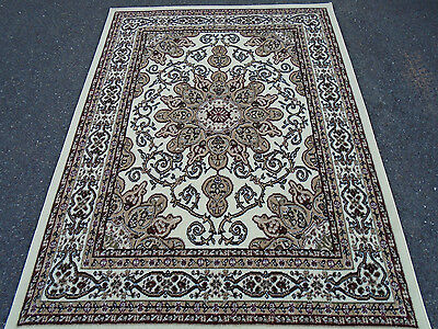NEW Ivory Beige Burgundy Green Traditional 8x10 Oriental Persian Area Rug 8x11