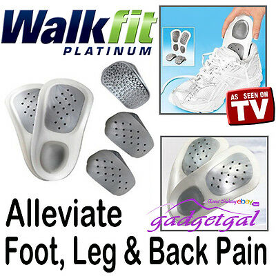Walkfit Orthotic Insoles Support Walk Fit Platinum Feet Ankle SIZE C D E F G