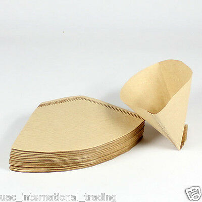 40 x Expresso cup Coffee Machine Maker Paper Filter Paper Fit 2 - 4 cups_Natural