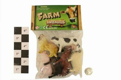 Farm Animals Play Set Toy Figures Pack of 6 for Children