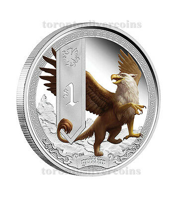 2013 MYTHICAL CREATURES - GRIFFIN 1OZ SILVER PROOF COIN Perth Mint