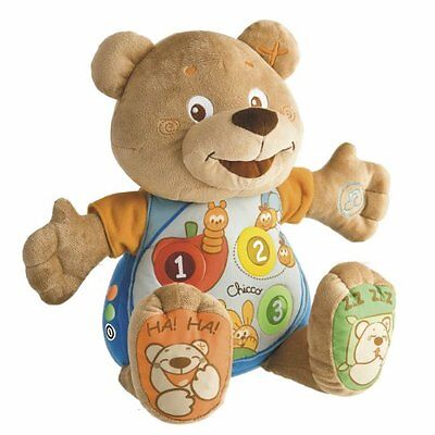 Chicco Teddy Count with Me Bilingual French/English Musical Soft Toy, 21.5 cm