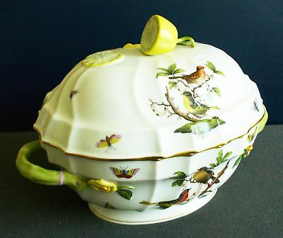 Herend Rothschild RO bird design large tureen with lid