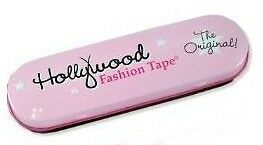 HOLLYWOOD Fashion 36 strips of Double Stick TAPE in a Take Along TIN BOX Travel